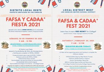 FAFSA and CADAA Fest 2/20