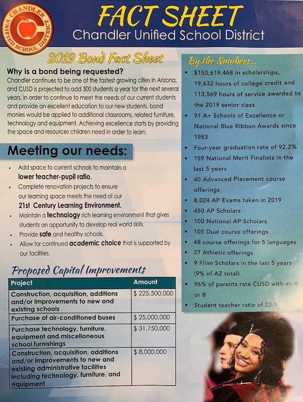 CUSD Bond Fact Sheet