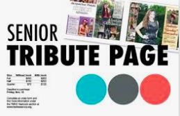 Now accepting your Senior Tributes for the Yearbook!
