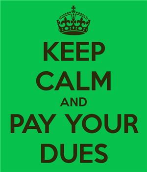 ATTENTION SENIORS  - PAY YOUR DUES