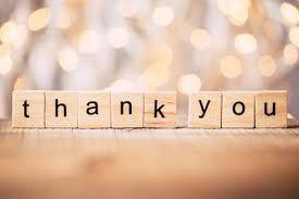 BIG THANK YOU . . .