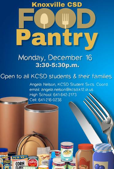 KCSD Food Pantry info
