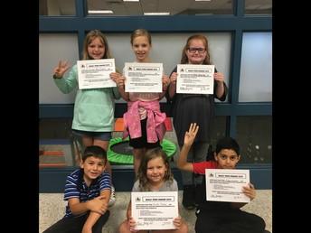3rd Grade Bully Free Winners!
