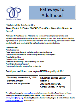 Pathways to Adulthood Workshop