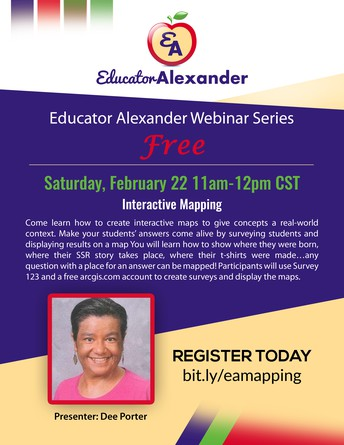 LAST CHANCE TO REGISTER FOR FREE WEBINAR: Interactive Mapping