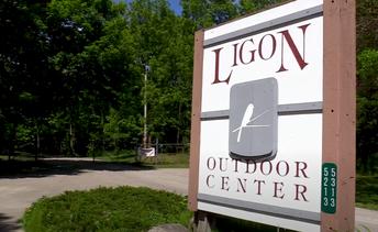 Ligon Outdoor Center entry sign image