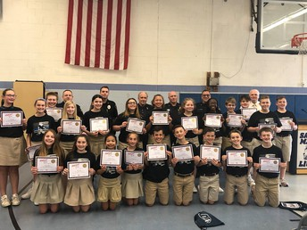 Congrats to the 6h grade for graduating from their D.A.R.E. class!
