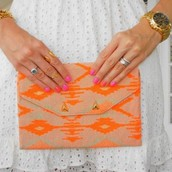 Aztec Slim Clutch