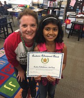 Rashmi Satheskumar in Mrs. McCain's 2nd Grade Class