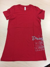 Dragons Side Print Bella T-Red