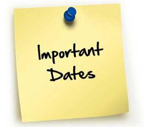 Upcoming Important Dates / Próximas fechas importantes
