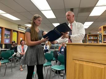 CJSHS Principal Recognition