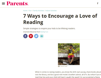 7 Ways to Encourage a Love for Reading!