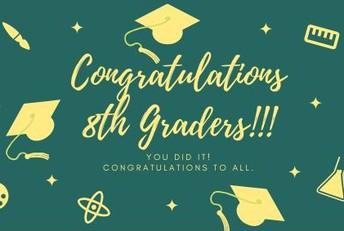 ¡Felicitaciones a los alumnos de 8º grado por su promoción!