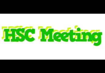 April HSC Meeting