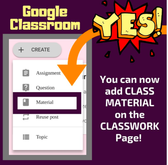 Material in Google Classroom