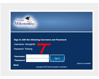 Use the login info to log into the test