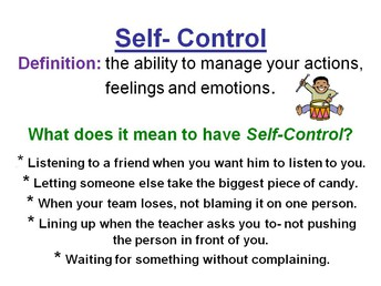 September Character Trait is Self-Control