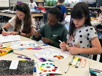 4th Grade Dot Day Color Theory Project