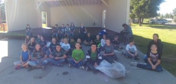 Ms. Crowther's Class after a hard working afternoon cleaning the river banks and park
