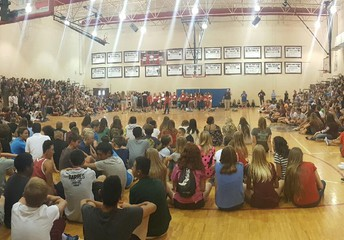 Typical End of Year Pep Assembly