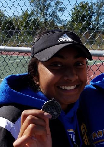 Geethika Cherukuru Advances To Tennis State Championships