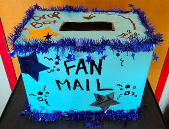 STUDENTS: Please Bring Fan Mail (Letters, Cards, Happy Notes) for your teachers!