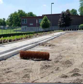 New sidewalk!