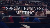 Special Church Business Meeting