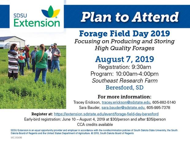 Forage Field Day Advertisement Postcard