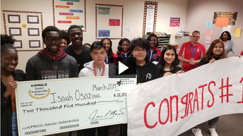 Taylor High School student Isaiah Osazuwa was named KPRC's Senior Scholarship Program.