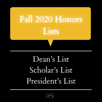 Congratulations to SOTA students awarded Honors Lists