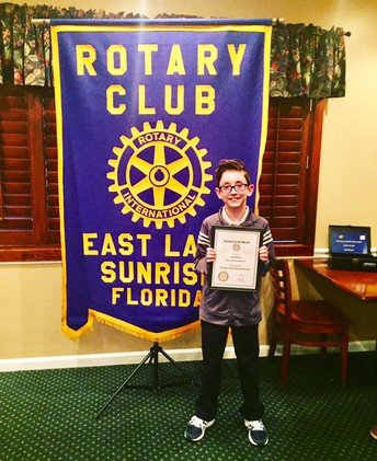 ROTARY STUDENT FOR THE MONTH OF DECEMBER - LEO SLACK!!
