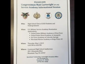 US Military Academy Informational Night sponsored by Congressman Matt Cartwright