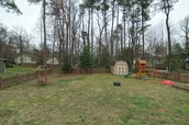 Large fenced in back yard