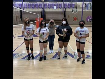 Lady Viking Volleyball Team -  SENIOR NIGHT