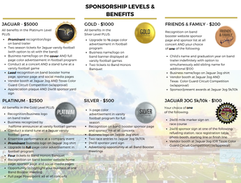Band Sponsorships