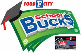 FOOD CITY SCHOOL BUCKS PROGRAM!