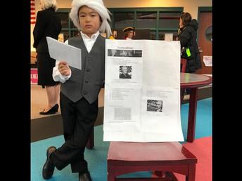 Isaac as Thomas Jefferson