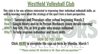 Volleyball Club Beginning!