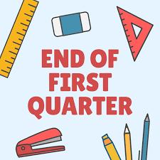 First Quarter Ends!