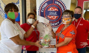 Olle Middle School also received a donation of $400 from the Xi Alpha Omega Chapter of the Alpha Kappa Alpha Sorority.