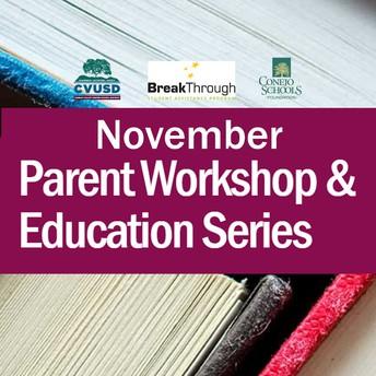 Serie educativa para padres de noviembre: Relaciones que importan -cinco claves para ayudar a su hijo a tener éxito
