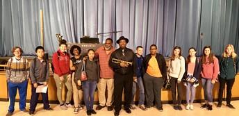 Mr. Wayne James with NEAAAT students.