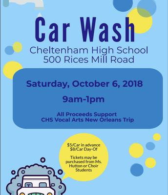 Tomorrow CHS Car Wash