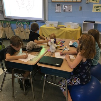 Mrs. Hall's students creating their own Pinduli.