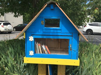 Claxton's NEW Little Free Library
