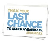 YEARBOOKS ON SALE AGAIN IN JANUARY!