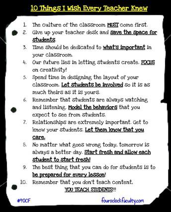 10 Things I Wish Every Teacher Knew