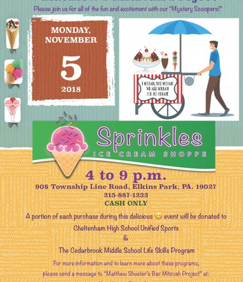 Matthew's Mitzvah Project @ Sprinkles